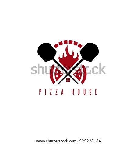 pizza house vector concept with