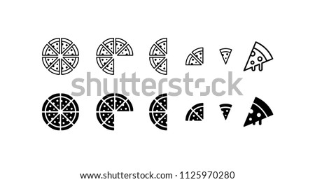 Pizza Icon Design Vector Symbol Fast Food Meal