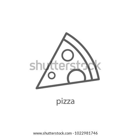 pizza icon outline design