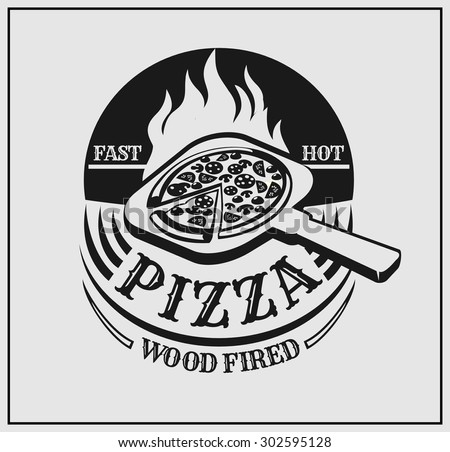 pizza label logo for the