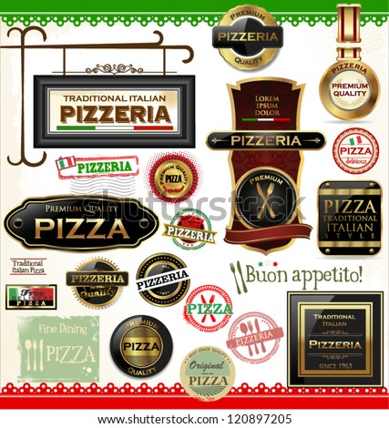 Pizza labels