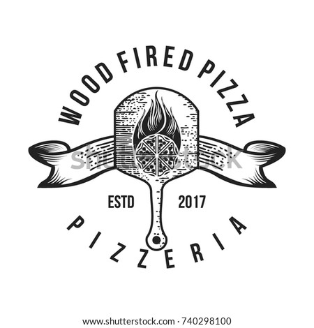 pizza logo collection labels