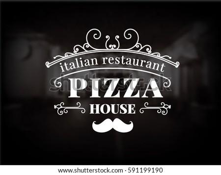 pizza logo. vintage pizzeria...