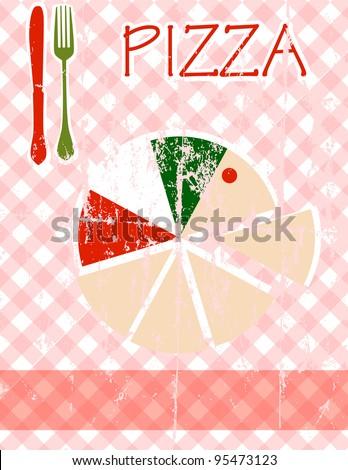 Pizza menu card design template free copy space