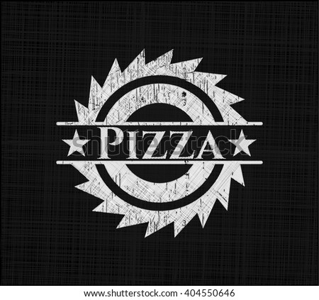 Pizza on chalkboard