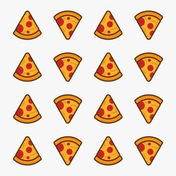 Pizza pattern background wallpaper vector icon design for your business