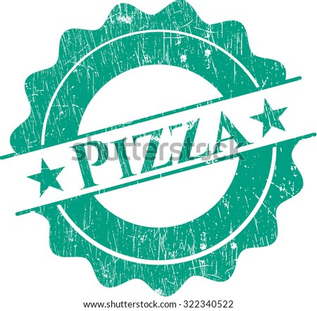 Pizza rubber grunge seal
