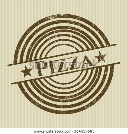 Pizza rubber grunge texture seal