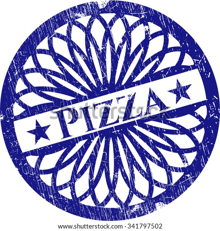 Pizza rubber seal with grunge texture