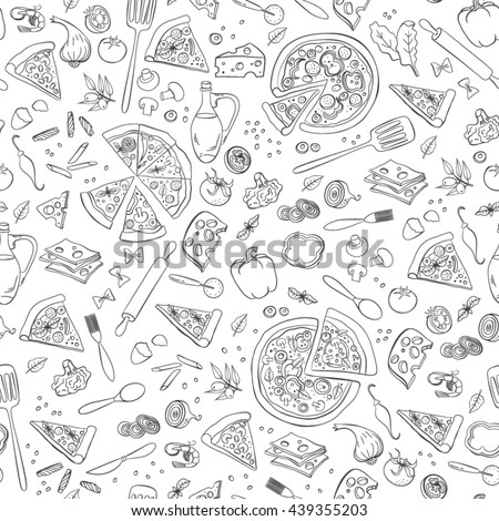pizza seamless pattern useful