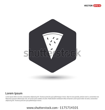 Pizza slice iconi Hexa White Background icon template - Free vector icon