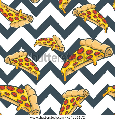 pizza vector seamless pattern, pizza texture,