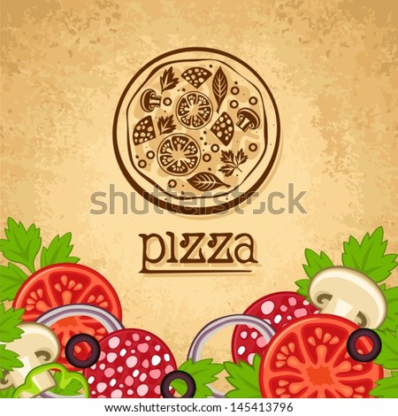 Pizza Vintage fast food background