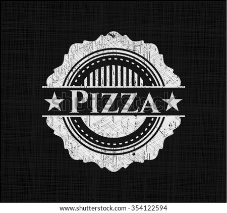 Pizza with chalkboard texture