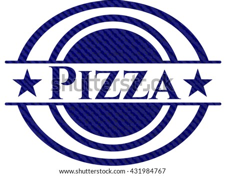 Pizza with denim texture
