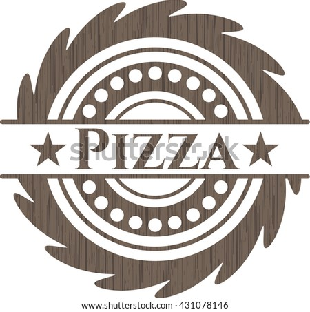 Pizza wooden signboards