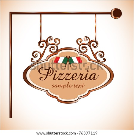 pizzeria restaurant sign