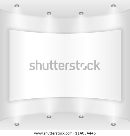 Placard on a round wall, vector eps10 illustration