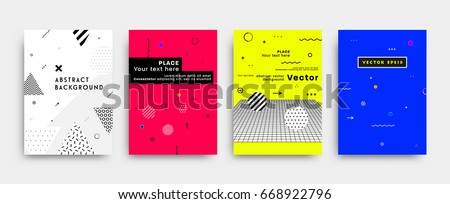 placard templates set with