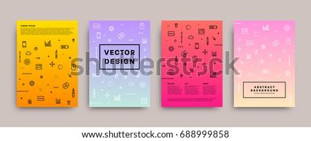 Placard templates | Trendy 80s memphis geometric design