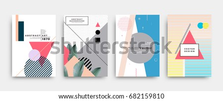 placards set with abstract