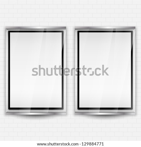 Place for a picture on a white brick wall | EPS10 Vector