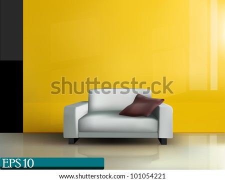 place for rest in office (vector 10 eps)