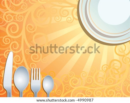 Place setting, vector