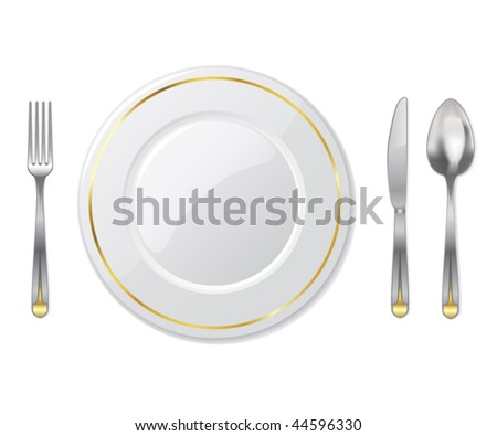 place setting - vector illustration
