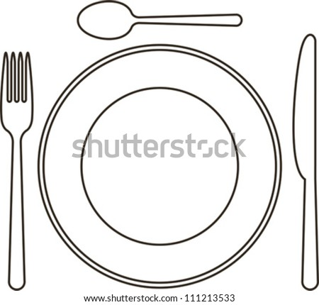 Stock Vector Place Setting With Plate Knife Spoon And Fork further Stock Vector Spoon And Fork Cartoon Vector And Illustration Black And White Hand Drawn Sketch Style together with  on multiple forks clip art