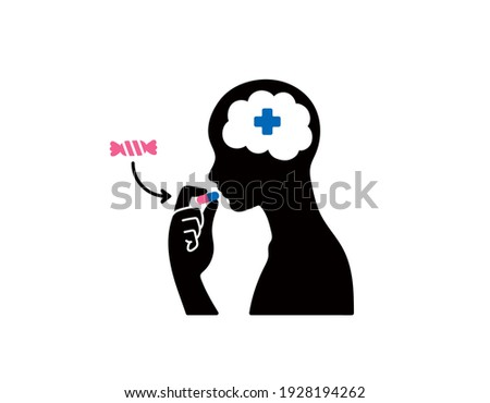 Placebo Effect vector illustration black ストックフォト ©