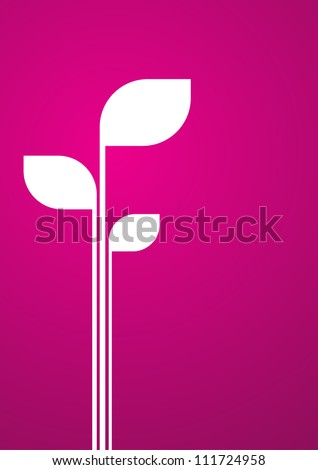 Placeholder in white sprout on velvet background. Abstract vector background.