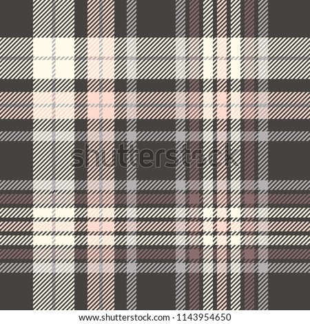 Plaid check patten in black, pink, gray, cream and maroon. Seamless fabric texture print.