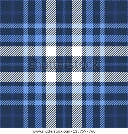 plaid check patten in dark navy