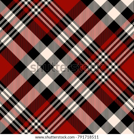 plaid check patten in red
