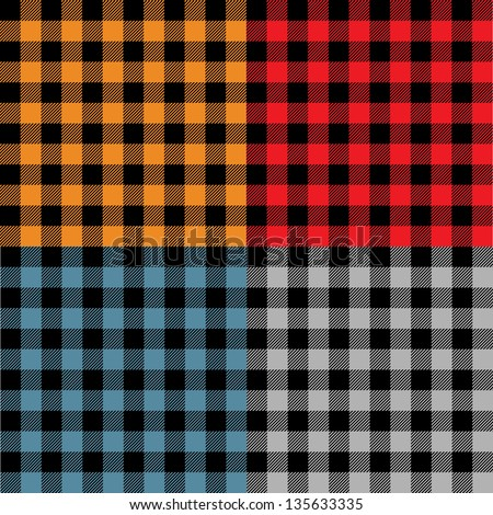 Plaid fabric samples in vector