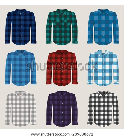 plaid patterned shirts for men