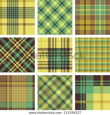Plaid patterns - stock vector