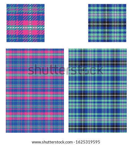 Plaid tartan pattern swatch colorable.  Double click on global color in swatches panel, ckeck preview box and change value