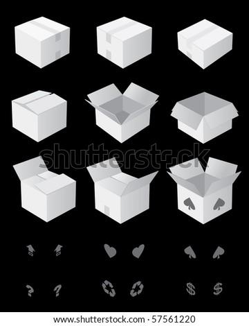 plain box - stock vector