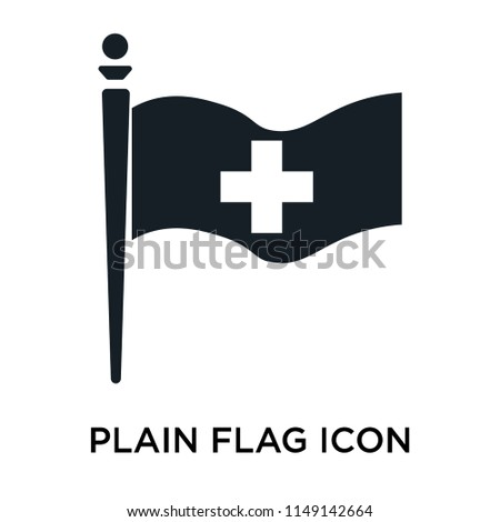 Plain flag icon vector isolated on white background for your web and mobile app design, Plain flag logo concept