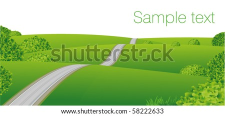 plain landscape vector