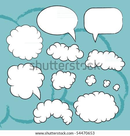 Plain vector bubbles set