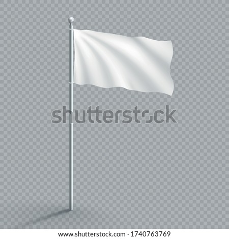 plain white realistic waving 3d