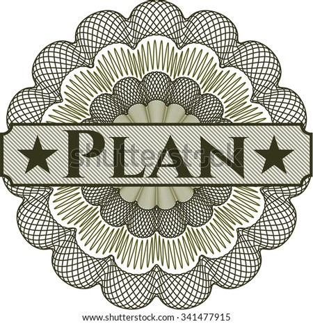 Plan abstract linear rosette