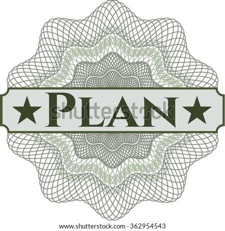 Plan abstract rosette