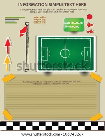 Plan, game football,Vector