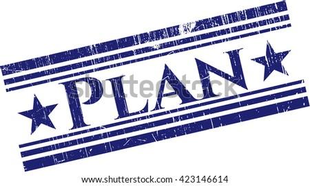 Plan grunge style stamp