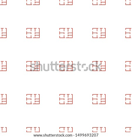 plan icon pattern seamless white background. Editable outline plan icon. plan icon pattern for web and mobile.