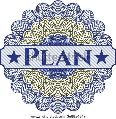 Plan linear rosette